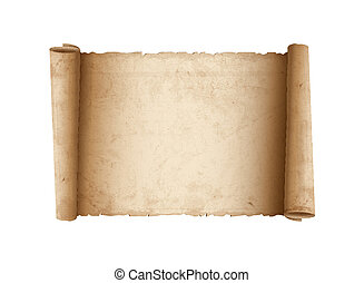 horizontais, papel, antigas, scroll