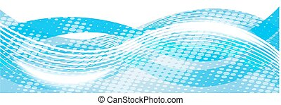 Horizontal abstract blue background