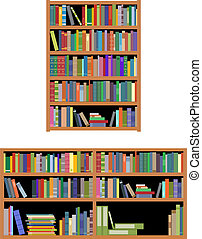 Horizontal and vertical bookshelf