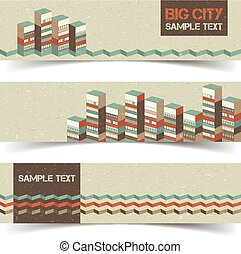 Horizontal Architectural Banners Set