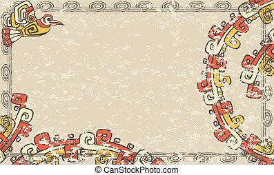 Horizontal background Aztec