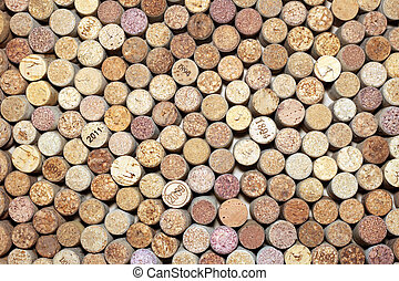 corks of wine bottles
