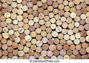 corks of wine bottles