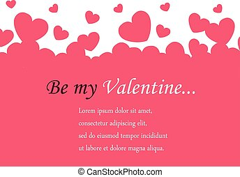 horizontal background Valentine's Day