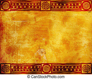 Horizontal background with American Indian traditional patterns