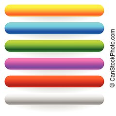 Horizontal banner, button templates in 6 colors with bigger...