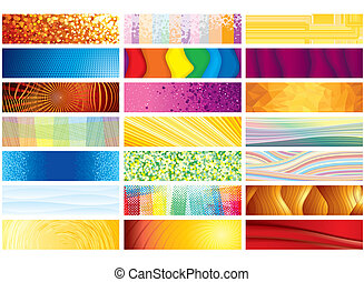 Horizontal Vector Banners
