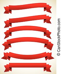 Horizontal banners set, vector illustration eps 10