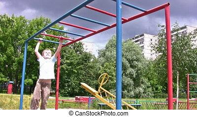horizontal bar sport hang child
