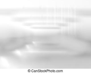 Horizontal black and white bokeh environment background