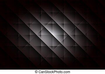 Horizontal black geometric background