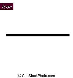 Horizontal Black Line icon on white background. vector illustration. eps10