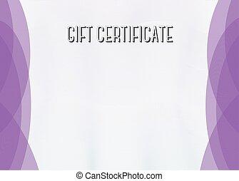 Horizontal Blank Modern Gift Certificate template -...