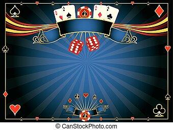 horizontal, blaues, kasino