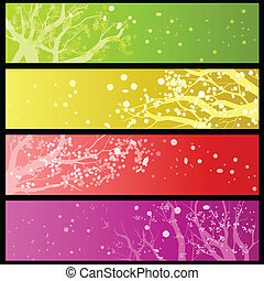 Horizontal bloom banners