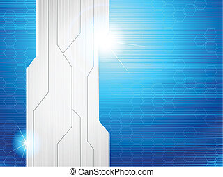 Horizontal blue banner