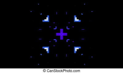 Horizontal blue lines kaleidoscope
