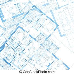 Horizontal Blueprint. Vector - horizontal vector of a ...