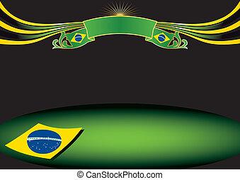 Horizontal brazil background