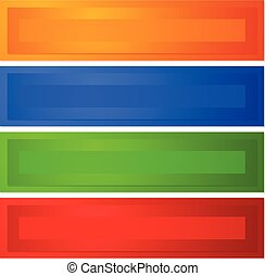 Horizontal buttons with bevel effect in 4 color