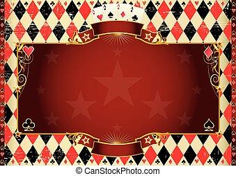 Horizontal Cards background - Horizontal Casino background....