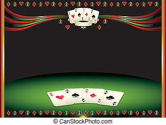 Horizontal cards background - Nice horizontal poker...
