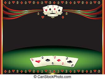 Horizontal cards background - Nice horizontal poker ...