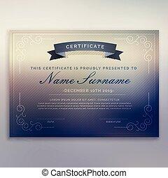 horizontal certificate template design