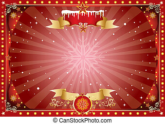 horizontal christmas background