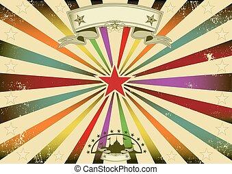 Horizontal circus retro party - A horizontal retro...