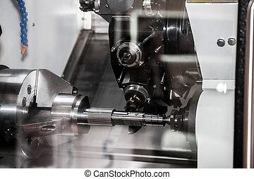 Horizontal CNC milling-turning center