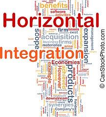 horizontal, concepto, integración, plano de fondo