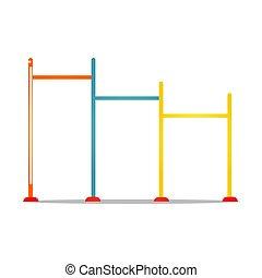 horizontal, crossbar., metal, ilustración, plano de fondo, ...
