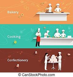 horizontal, cuisine, bannières
