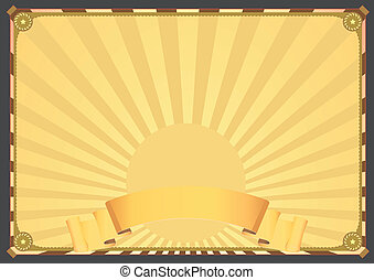 Horizontal Deluxe Background - Illustration of a vintage...