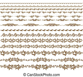 Horizontal elements decoration vector - Set of vector...