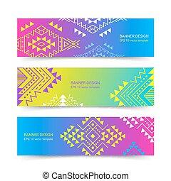 Horizontal ethnic banners