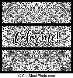 Horizontal flyers with coloring pattern - Horizontal flyers...