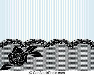 horizontal, fond, noir, dentelle, francais