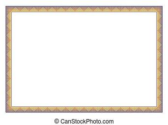 Horizontal Frame for certificate border