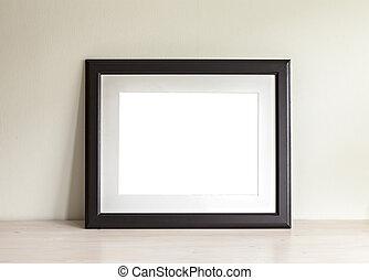 Image of a horisontal frame mockup scene.