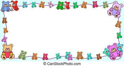 horizontal frame with teddies border - horizontal frame with...