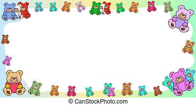 horizontal frame with teddies border