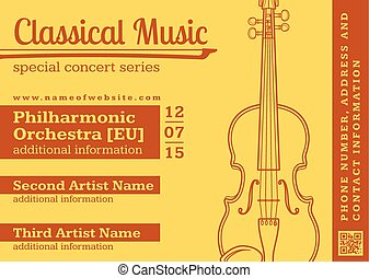 horizontal, gabarit, violon, musique classique, aviateur, concert