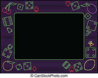 horizontal gambling frame