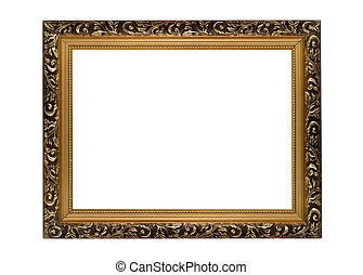 Horizontal golden Frame for picture or portrait
