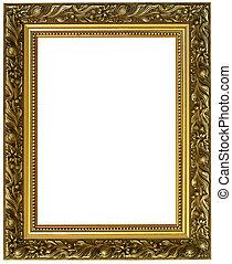 horizontal golden frame