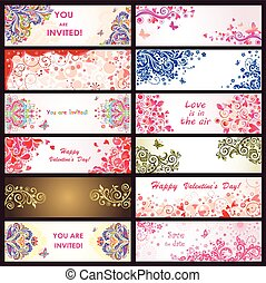 Horizontal greeting decorative banners
