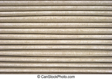 Horizontal grooves on used air filter - Several horizontal ...