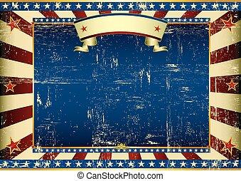 Horizontal grunge american - An american vintage horizontal...